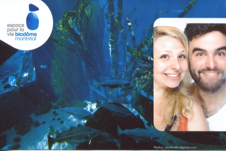 C and I being dorky tourists at the Biodome photo booth.