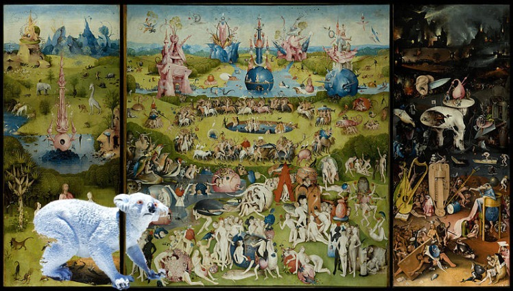 Hieronymus Wallace inside a Bosch painting