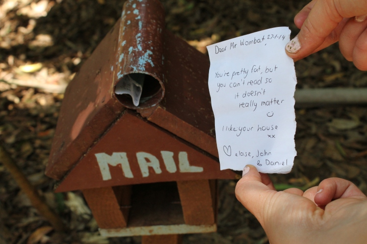 The best part was that hikers had left mail in this mailbox. We didn't leave a letter, but we laughed a lot at the ones we read.