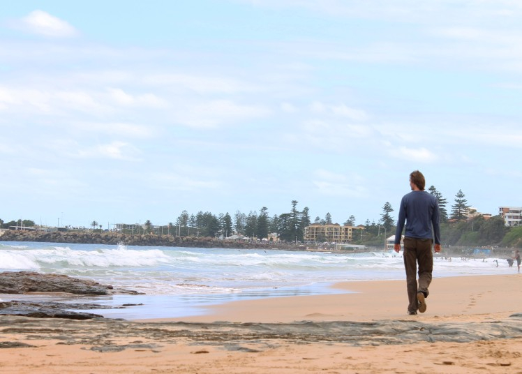 North Gong Beach (complete with majestic strolling beachwalker)
