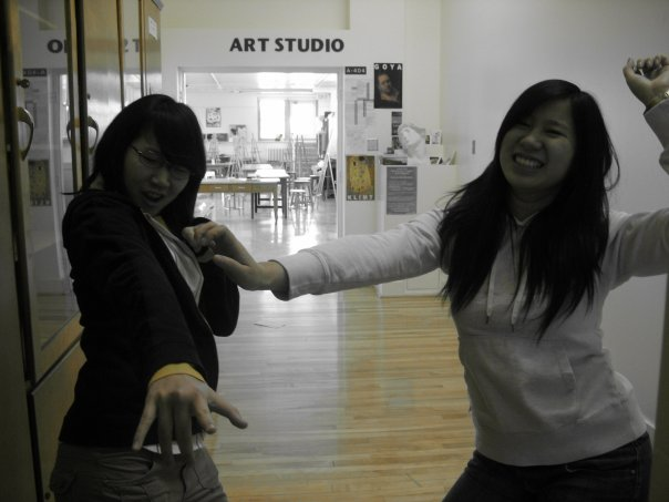 TL and Andrea in Marianopolis Art Studio circa 2008.