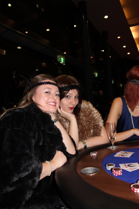 SB and I looking fabulous at the Gangsters and Flappers themed inter-college ball, 2011.