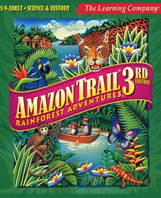 Amazon trail CD-ROM cover. Photo from Giant Bomb.