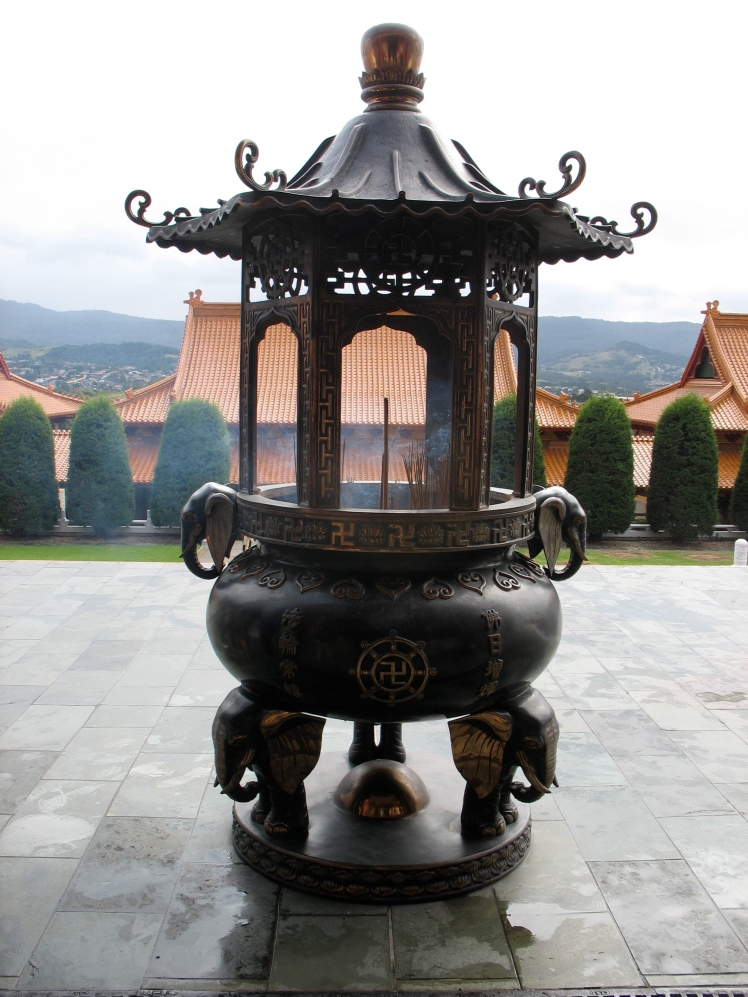 Incense stand looking out from the Nan Tien Temple; took this on my last visit, but I really wanted to go back again.