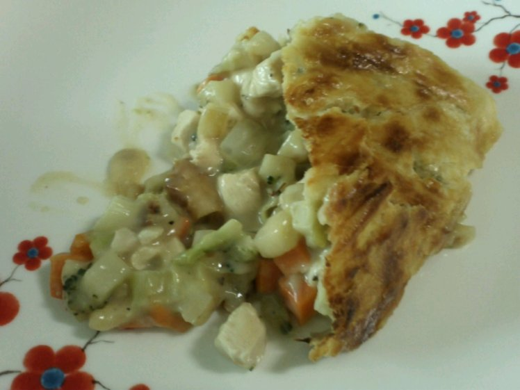 Chicken pot pie, pie of my dreams, I'd marry you if I could.