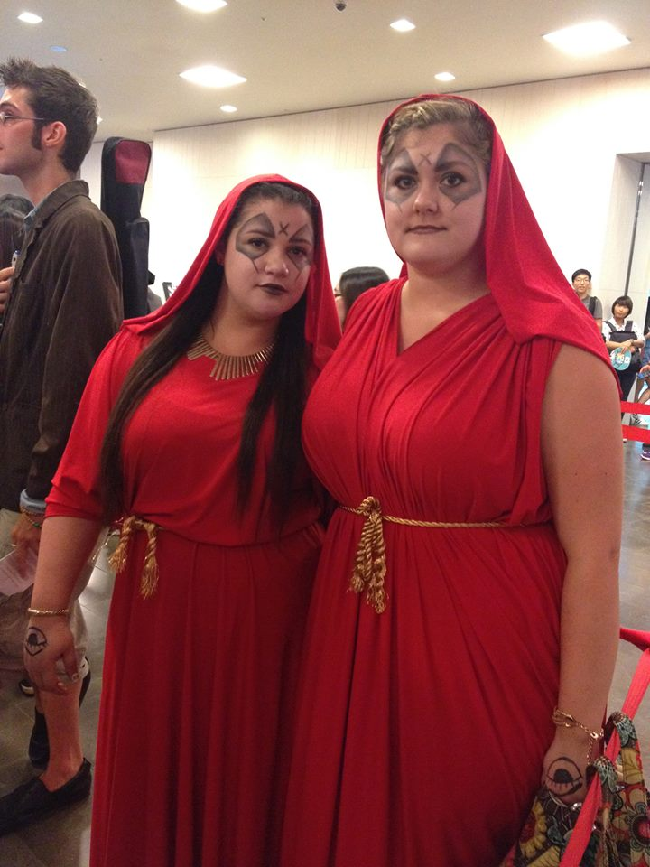 "Amazing soothsayer cosplays from Season 4's ""The Fires of Pompeii""."