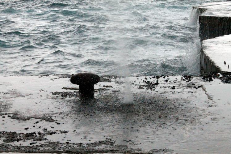 Typhoon Day Blowhole Splatter 2014 Ulleungdo Trip small
