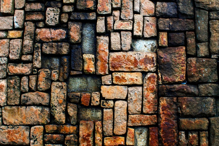 Vividly red brickwork.