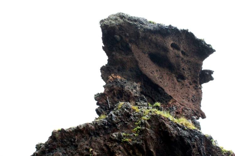 A rock that looks like a slice of chocolate cake.