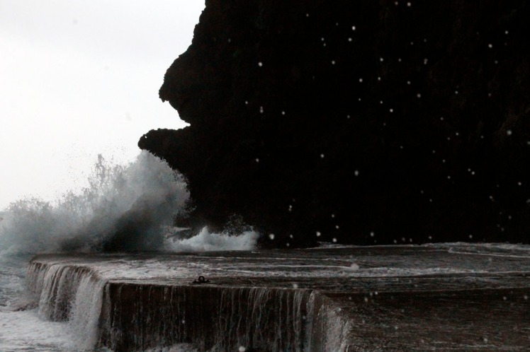 Typhoon Day Waves Crashing and Foam Spraying 2014 Ulleungdo Trip small