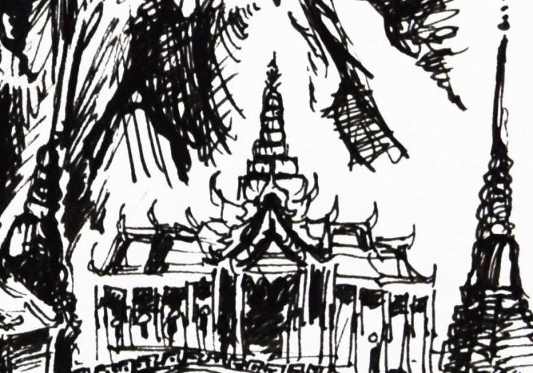 Temple Wat Phra Kaew in Thailand.