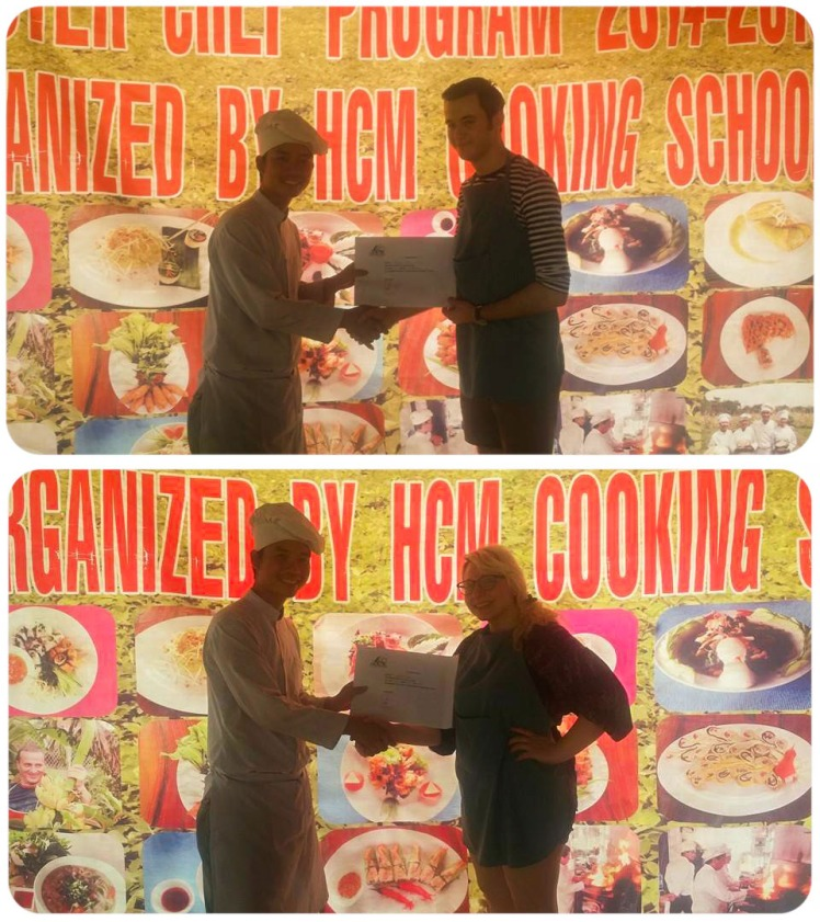 Ricky and I getting our certificates.