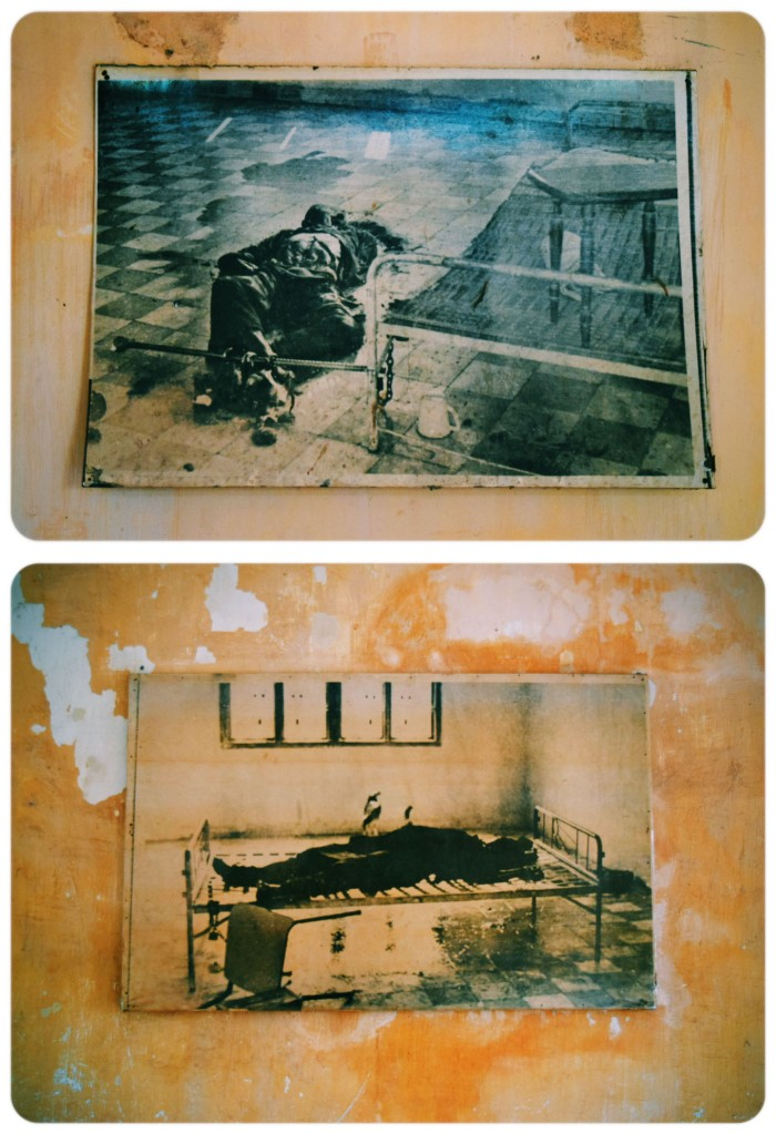 Portraits of prisoners who died during interrogation.