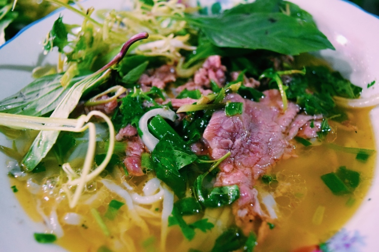 Street food pho - delectably succulent and fresh.