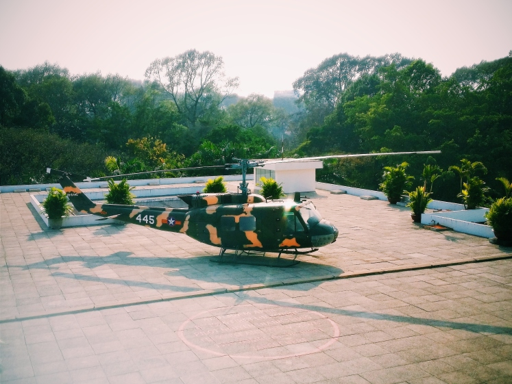 Personal escape helicopter on top of the Reunification Palace.