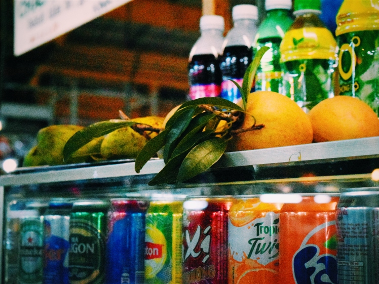 Fresh fruit and cold drinks galore.
