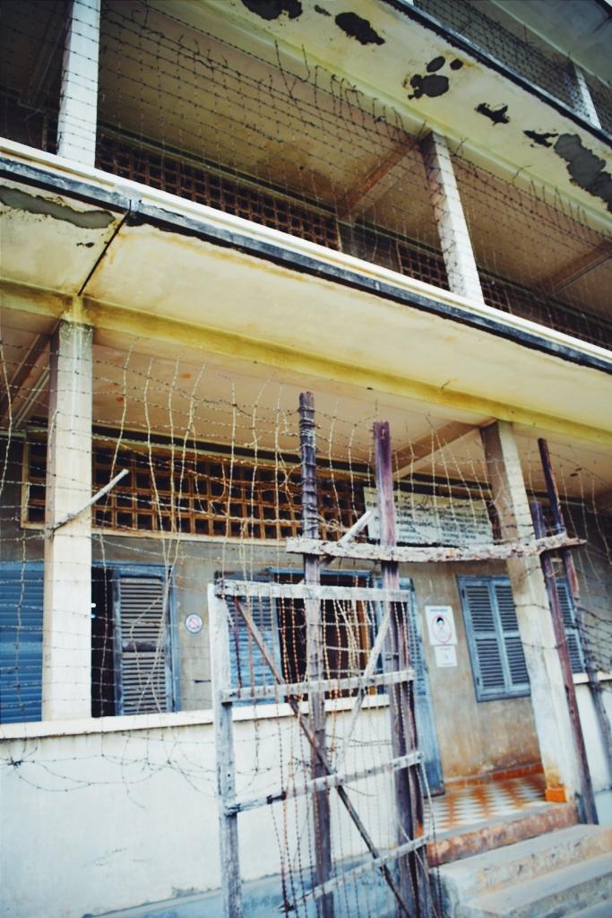 Barbed wire building facades.