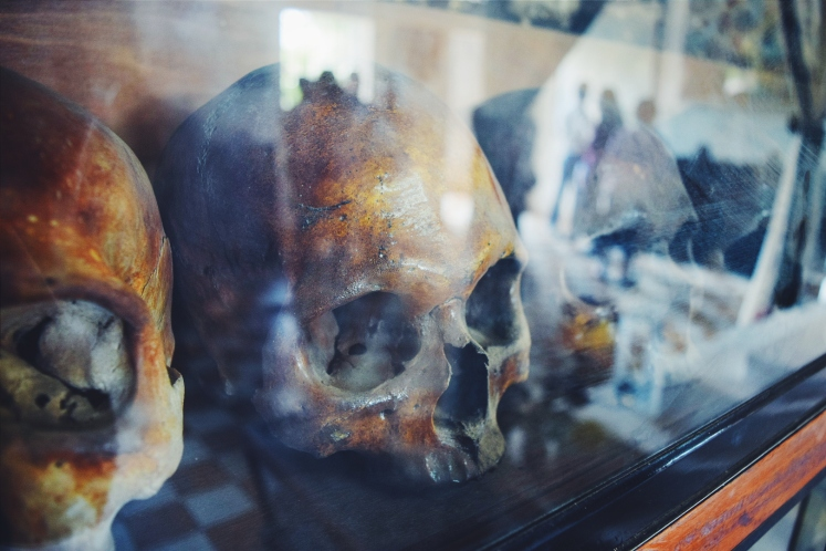 Skulls from victims in S-21.
