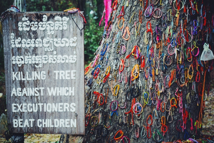 Tree against which executions were performed by bashing the brains out of women and children prisoners.