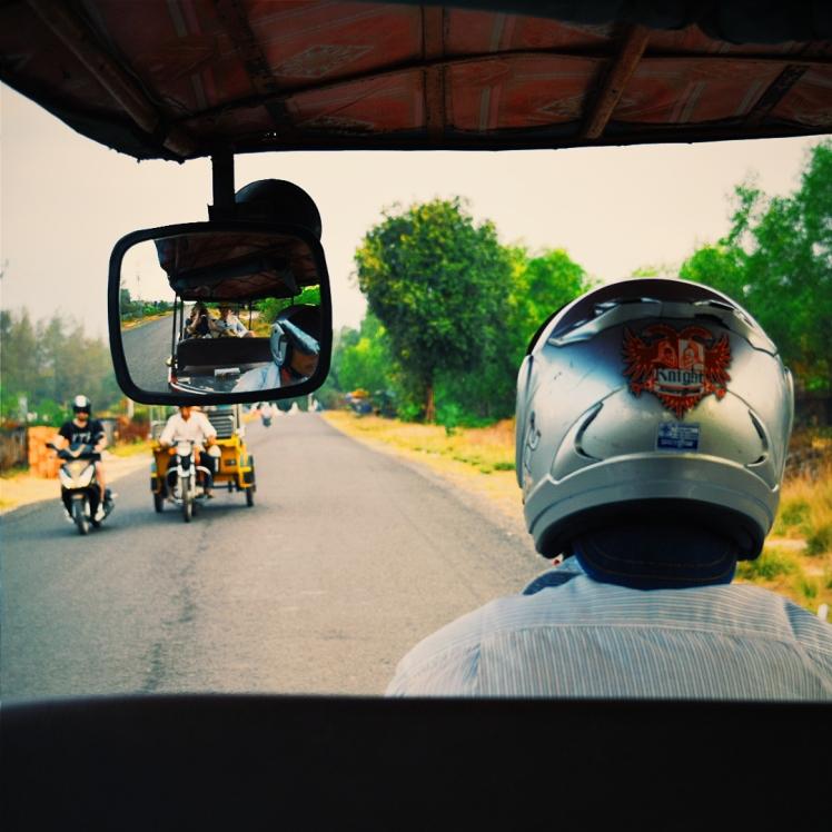 Tuktuk driver in Cambodia.
