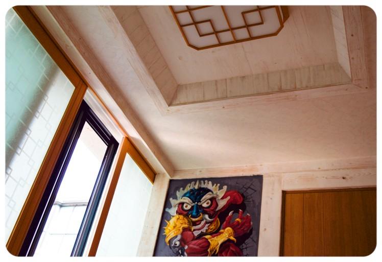 Serene zen ceiling in our room.