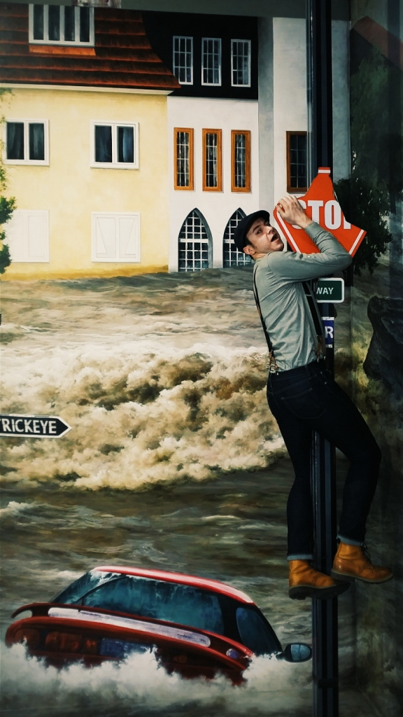 Hurricane flood! Cling for your life!
