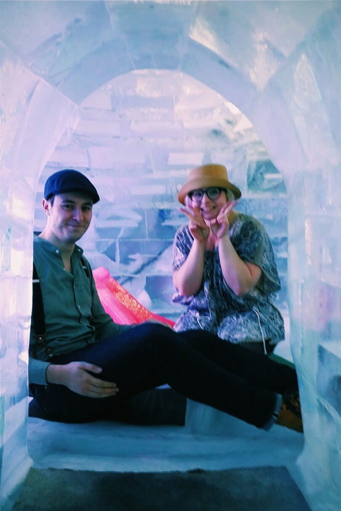 RIcky and I in the igloo.