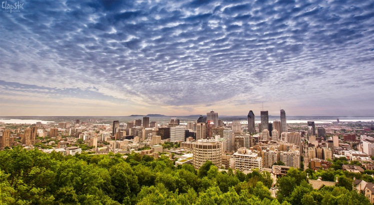 The beautiful Montreal skyline. From the Concordia's Polish Students' Association Facebook page.