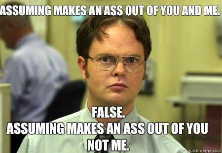 Unless you're Dwight. Photo from thingslearned.