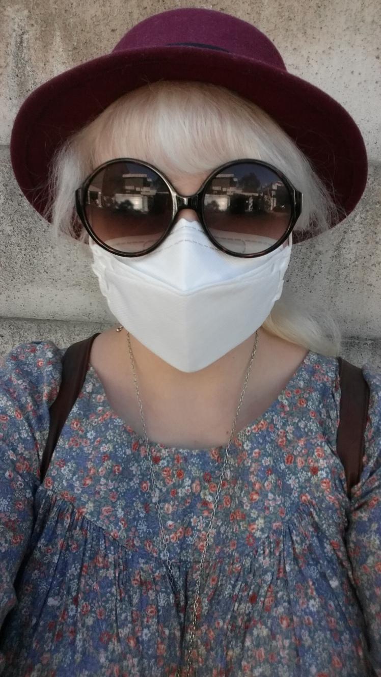 Yours truly in hypochondriac getup.