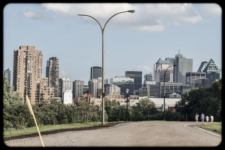 Montreal skyline.