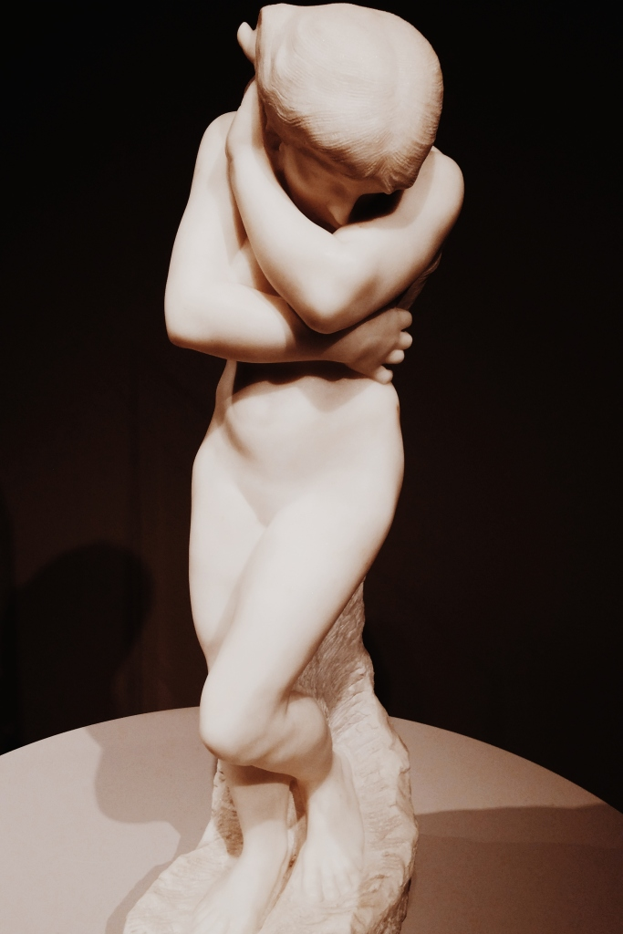 Figure of a nude, marble.
