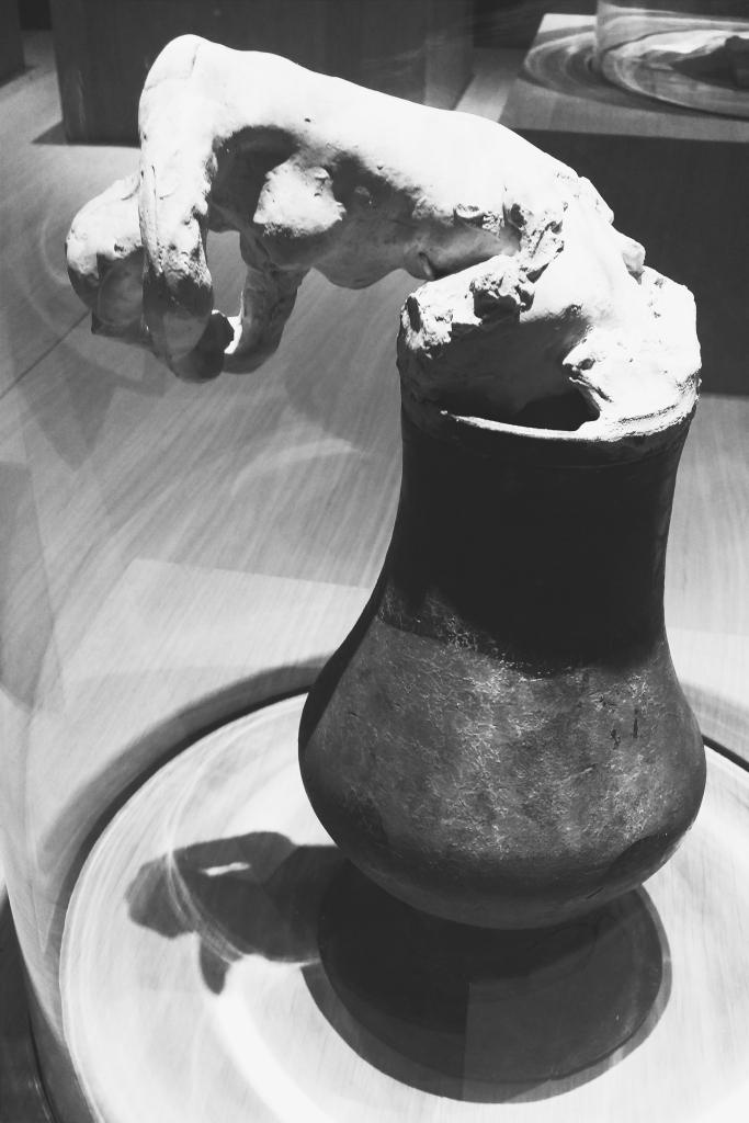 Flower pot figure.