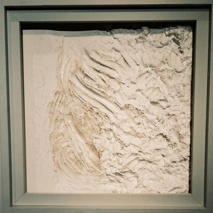 Plaster tactile experience.