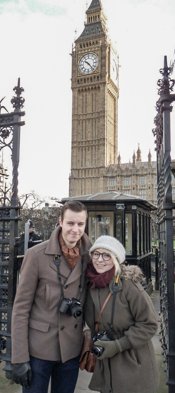 2016 London January Big Ben Ricky and I