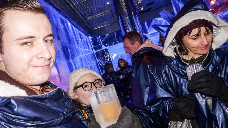 2016 London January Ice Bar Glass Moustache