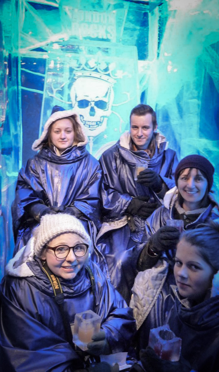 2016 London January Ice Bar Group Shot