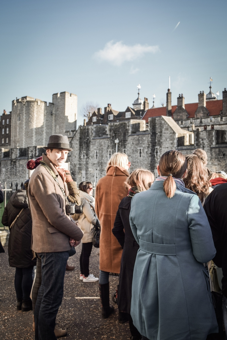 2016 London January Ricky Gathering for Tour at Tower of London small
