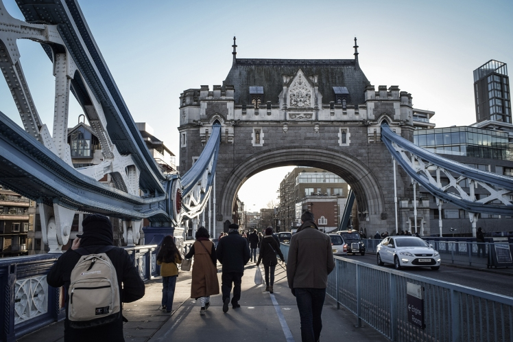 2016 London January Tower Bridge Exit Street Level small