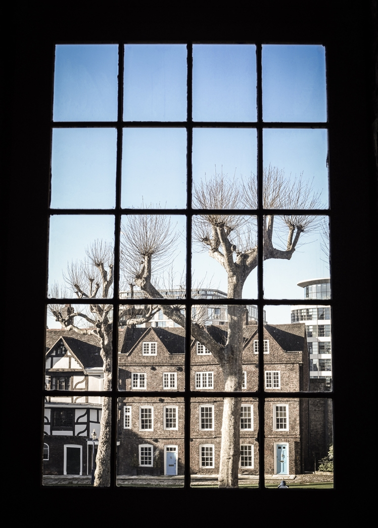 2016 London January Window View of Tower of London Courtyard small