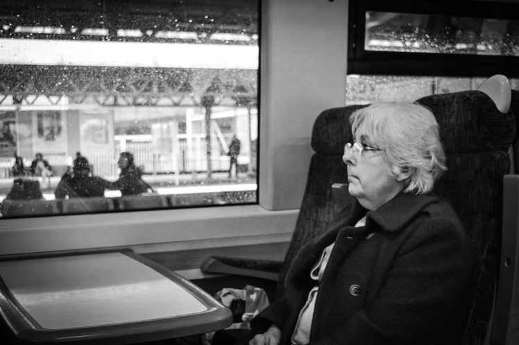 2016 Battle Abbey Woman on Train small