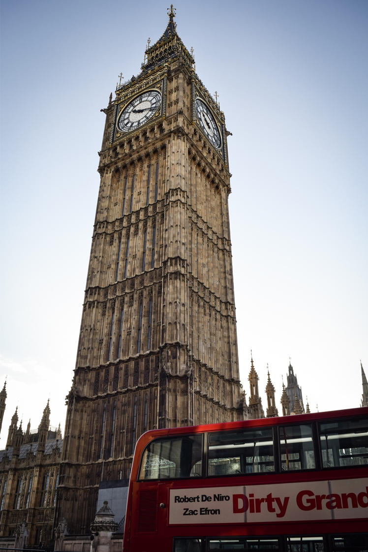 2016 London January Big Ben Double Decker Bus small