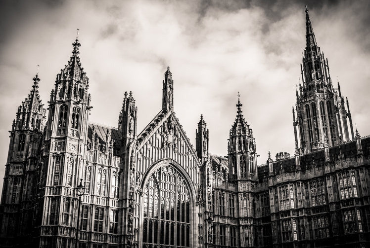 2016 London January Parliament black and white small
