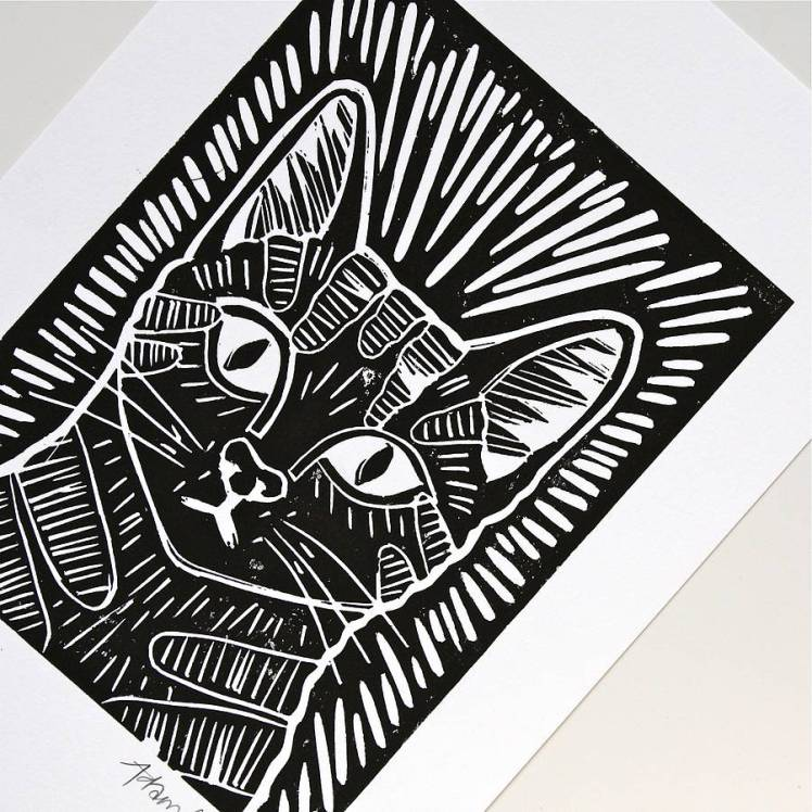 original_cat-portrait-lino-cut-print