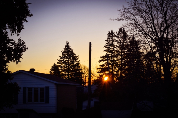 2016 Sunrise in Chambly Over Josee's House small