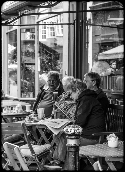 2016 Hastings Elderly Couple Outside Cafe small