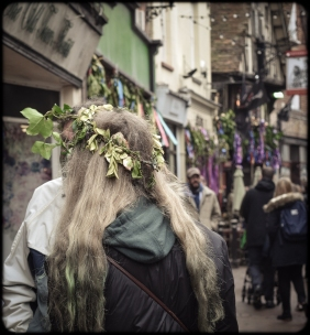 2016 Jack in the Green Ivy Crown and Dyed Green Hair Ends small
