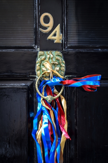 2016 Jack in the Green Ribboned Lion Door Knocker small